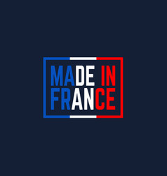 colorful made in france logo vector image