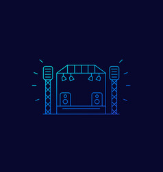 concert stage icon linear vector image