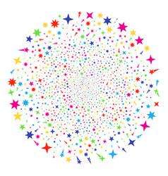 confetti stars decoration round cluster vector image