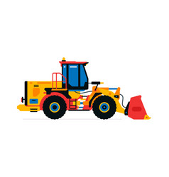 construction machinery front-end loader tractor vector image