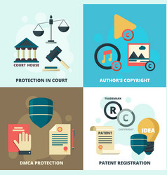 Copyright legal icon patient compliance quality vector