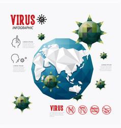 corona covid19 19 virus infographic geometric vector image