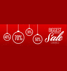 Crazy christmas sale and discount banner design vector