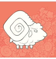 Cute Hand Drawn Sheep vector