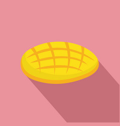 cutted mango icon flat style vector image