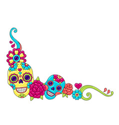 day dead decoration sugar skulls vector image