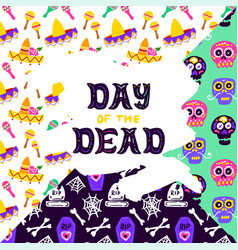 Day dead lettering concept vector