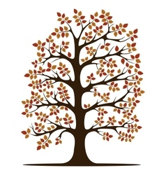 Decorative Brown Tree Silhouette vector