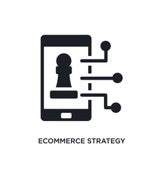 Ecommerce strategy isolated icon simple element vector