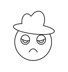 emoji in hat icon vector image