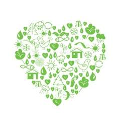 environmental heart vector image