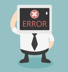 Error message on computer vector