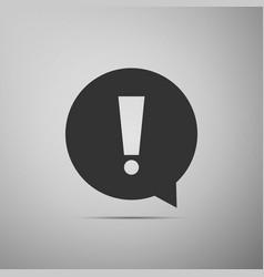 Exclamation mark in circle hazard warning symbol vector