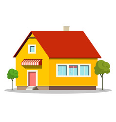 family house icon building symbol isolated on vector image