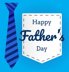 Fathers day flat in background with necktie vector