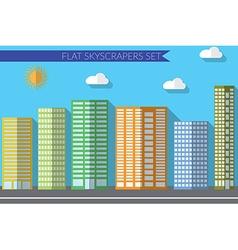 Flat design concept for urban landscapes city vector