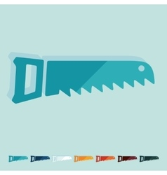 Flat design hand saw vector