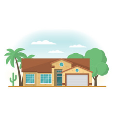 frontview of usa arizona style suburban private vector image