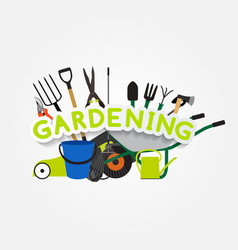 Gardening flat background vector