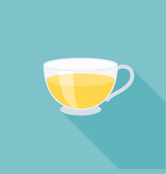 glass cup of tea icon vector image