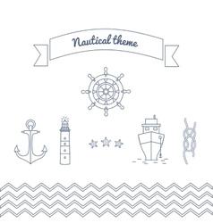 graphics on marine theme vector image
