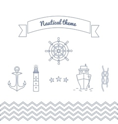 Graphics on the marine theme vector image