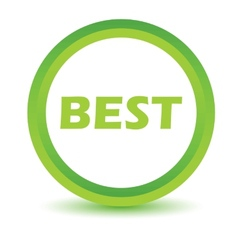 Green best icon vector image