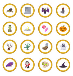 Halloween cartoon icon circle vector