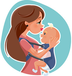 happy mother with baby vector image