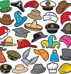 Hat pattern seamless vector