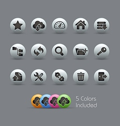 Hosting Icons Pearly Series vector
