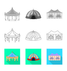 Isolated object roand folding icon set of vector