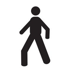 Isolated pedestrian icon vector