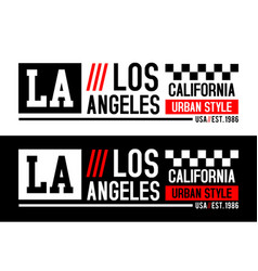 la california typography graphics vector image