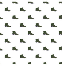 leather man shoe pattern seamless vector image