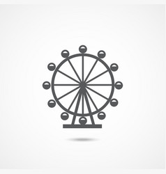 london ferris wheel icon vector image