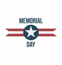 Memorial Day Label with Text vector image