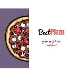 Menu For Pizzeria 6 vector image