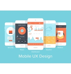 Mobile UX vector