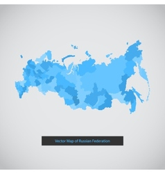 Mono color flat modern Russia map set vector image