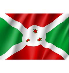 national flag republic of burundi vector image