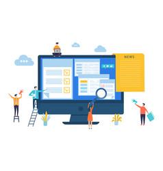 News update digital online newspaper vector