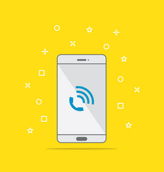 phone call icon button on smartphone screen vector image