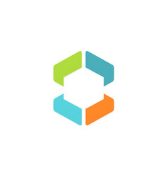 polygon colorful shape logo vector image