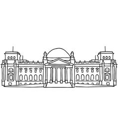 Reichstag building in Berlin vector image