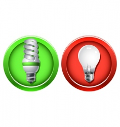 replacement of outdated incandescent bulbs vector image