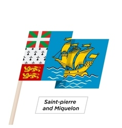 Saint-pierre and Miquelon Ribbon Waving Flag vector