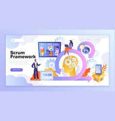 Scrum framework concept vector