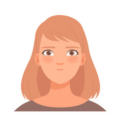 Serious young blond woman in vector
