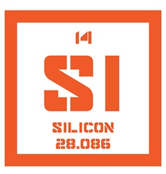Silicon chemical element vector image